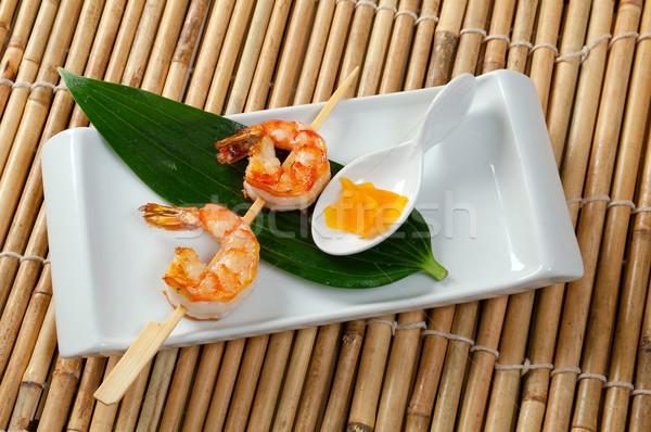 Japanese skewered  Jumbo Shrimp Stock photo © fanfo