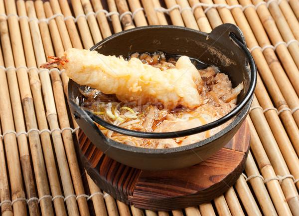 prawn noodles sup with dumpling    Stock photo © fanfo