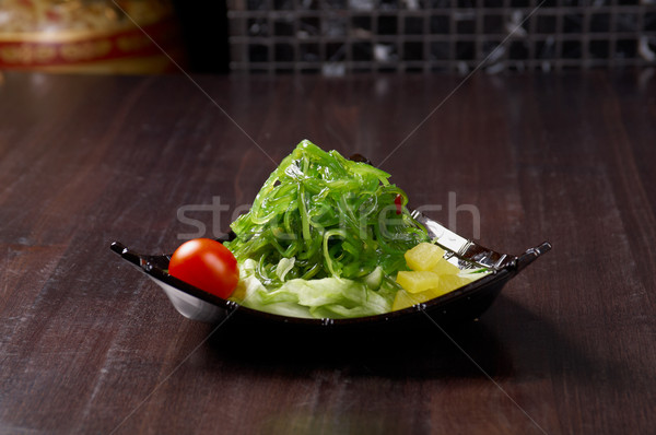mix salad seaweed with vegetable Stock photo © fanfo