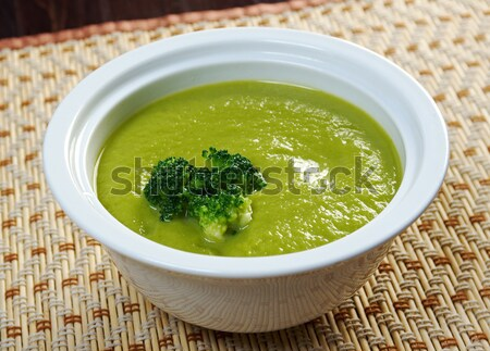 Creamy soup with broccoli Stock photo © fanfo