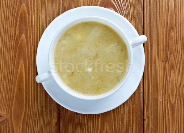 сливочный капуста суп сметана пластина мяса Сток-фото © fanfo