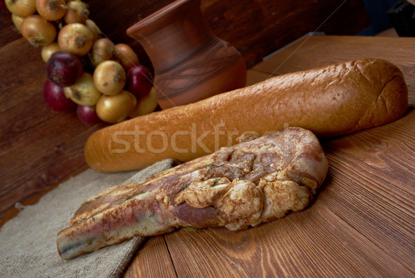 delicious Jerk  pork belly Stock photo © fanfo