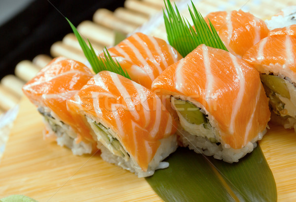 Japonais sushis traditionnel rouler poissons Photo stock © fanfo