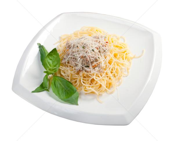 Сток-фото: спагетти · чаши · яйцо · ресторан · сыра · пасты