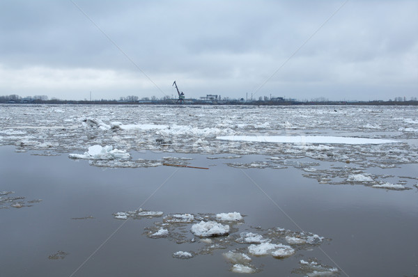 Drifting of ice. Driving of ice.  Stock photo © fanfo