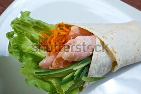 Foto stock: Desayuno · pollo · piernas · cena · carne · tomate