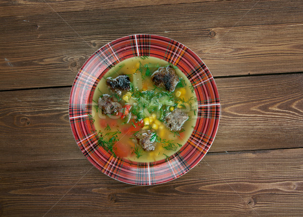 Mexican Meatball Soup Stock photo © fanfo