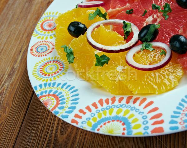 Sicilian orange salad Stock photo © fanfo