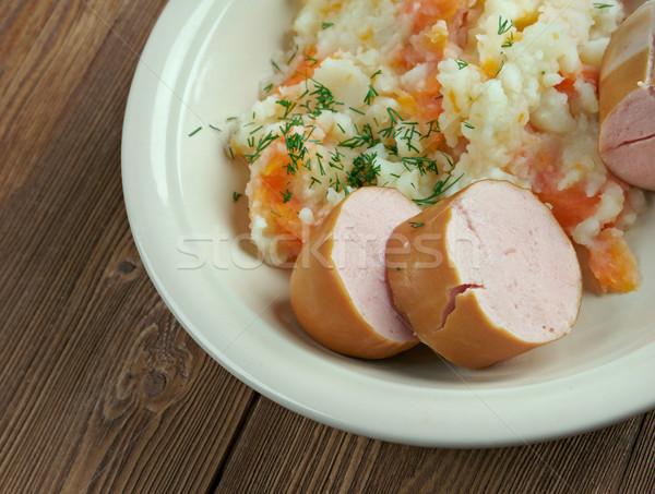 Holland edény főtt krumpli répák hagymák Stock fotó © fanfo