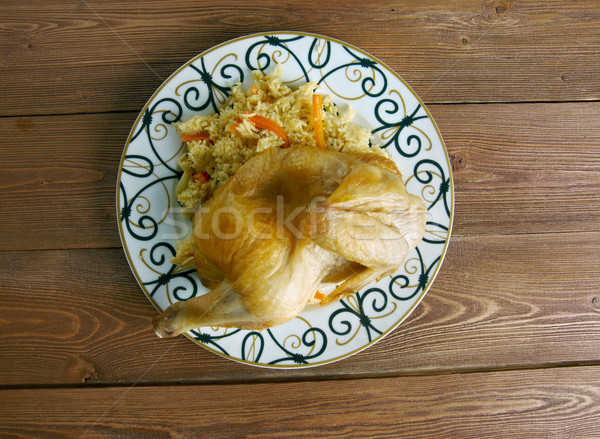 Kabsa - Middle eastern food Stock photo © fanfo