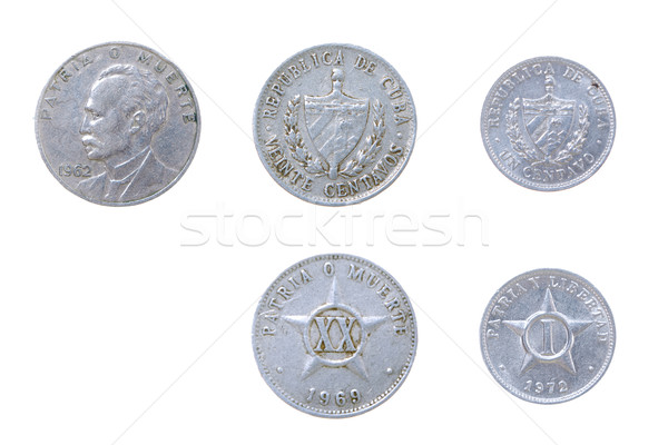 Cuban old coins Stock photo © fanfo