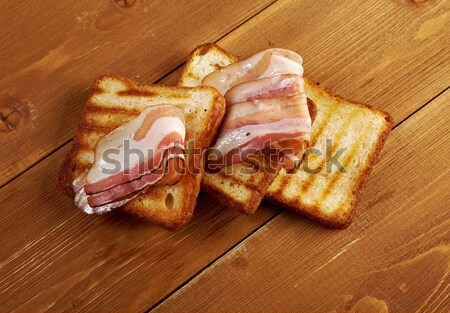 pita bread sandwich with gammon of bacon Stock photo © fanfo