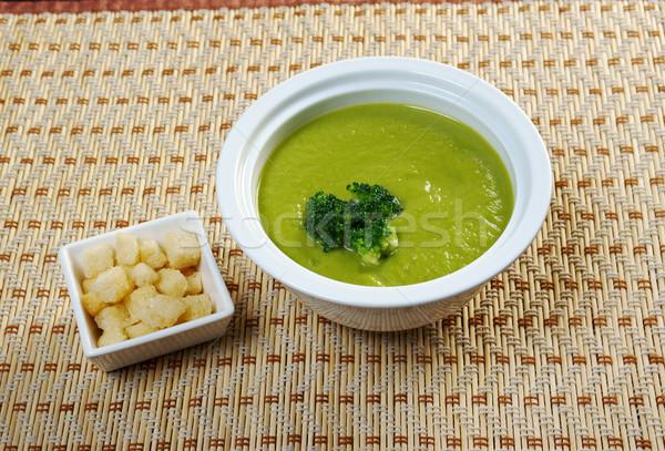 Kremowy zupa brokuły jedzenie krem naczyń Zdjęcia stock © fanfo