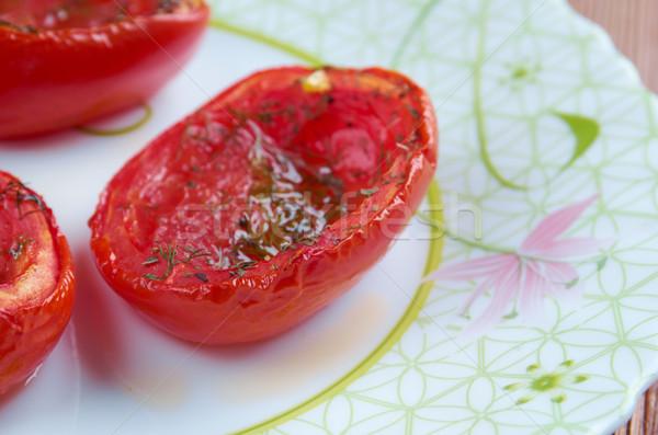Olasz töltött sült paradicsomok zöldség fotózás Stock fotó © fanfo
