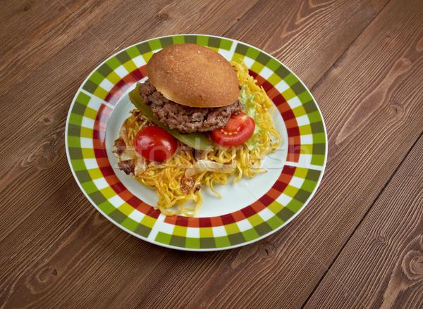 Chow mein sandwich Stock photo © fanfo