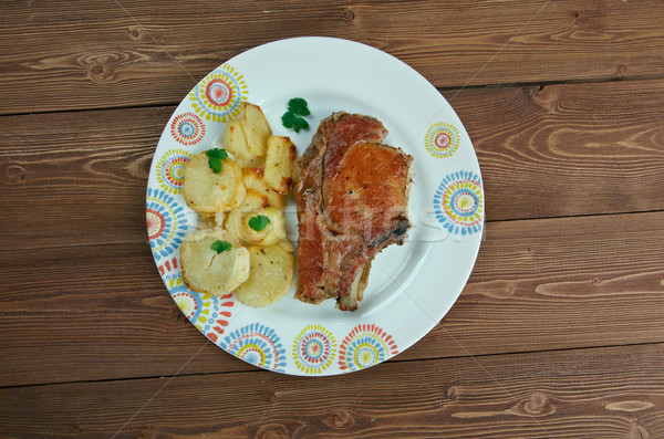Pork baked  Loins   Stock photo © fanfo