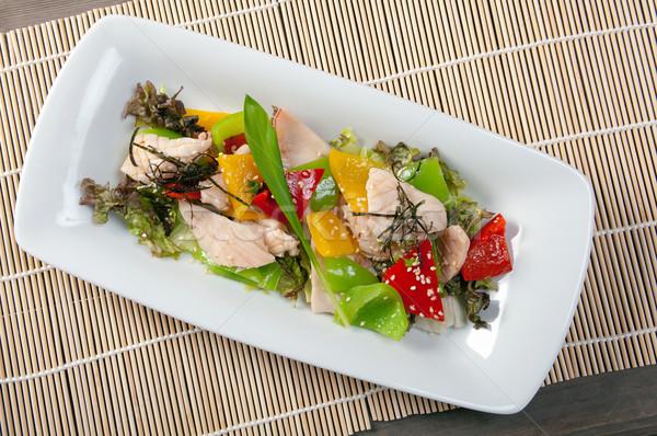 中国語 チキンサラダ プレート 表 鶏 赤 ストックフォト © fanfo