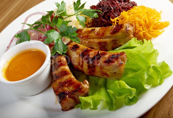 Bárány borda hús zöldségek étel saláta Stock fotó © fanfo