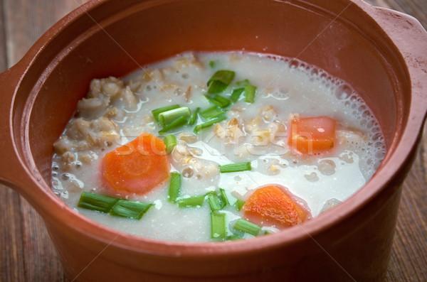 Orzo zuppa classico sfondo cucina verde Foto d'archivio © fanfo