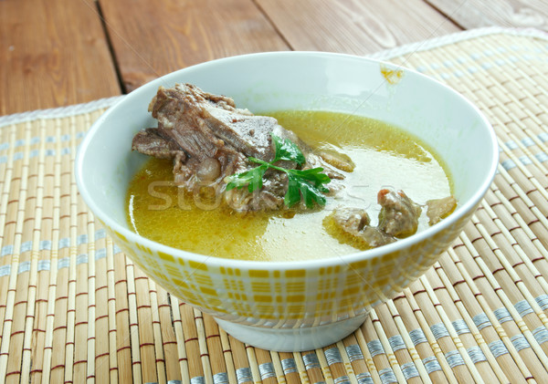 Płynnych hot naczyń zupa Azerbejdżan Iran Zdjęcia stock © fanfo