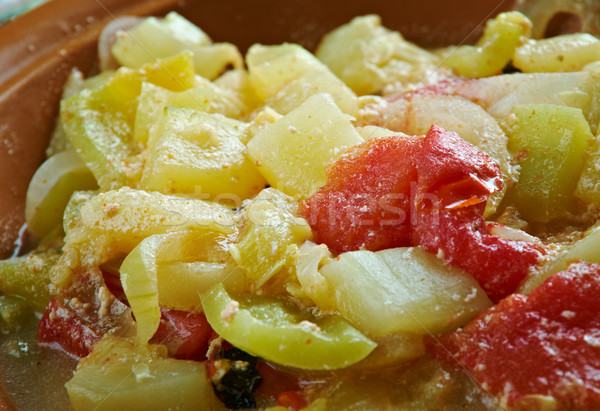Zucchini Gemüse Essen Olivenöl Pfeffer Stock foto © fanfo