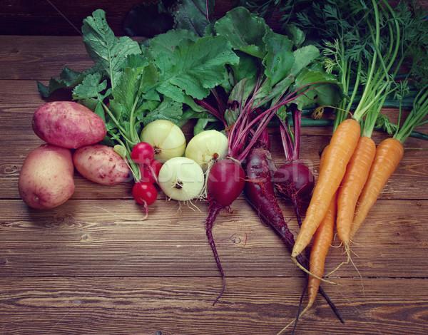 świeże składniki gotowania rustykalny żywności Zdjęcia stock © fanfo