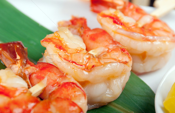 Japanese skewered  royal prawn Stock photo © fanfo