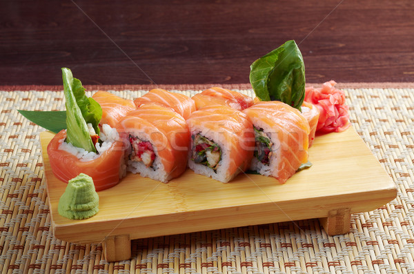 Uramaki. Philadelphia classic. Stock photo © fanfo