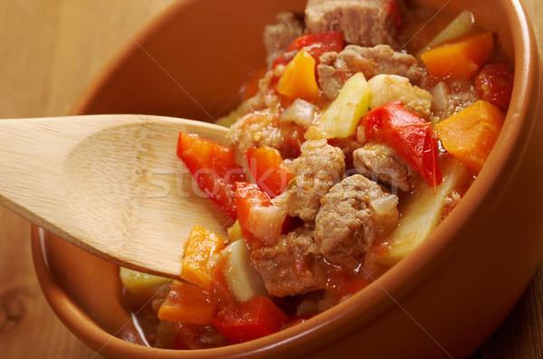 Húngaro quente sopa tradicional caseiro comida Foto stock © fanfo