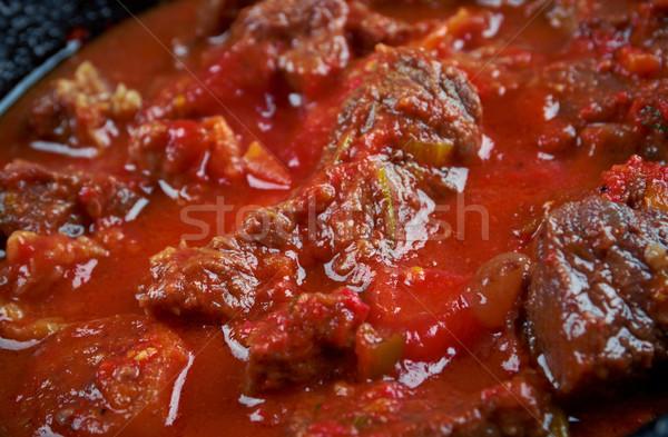 Сток-фото: традиционный · эфиопский · говядины · блюдо · Эфиопия · Эритрея