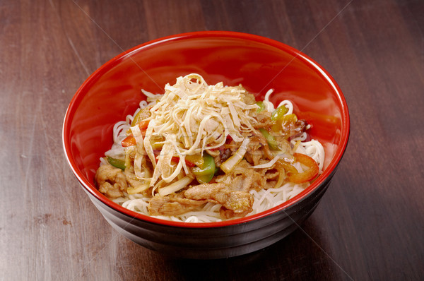 Noodles with pork and vegetable Stock photo © fanfo