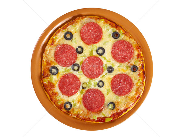 home pizza  Pepperoni Stock photo © fanfo