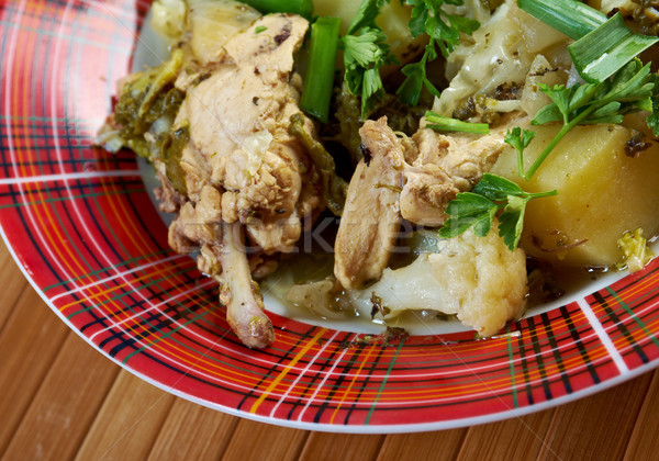 Stock photo: french stewed potatoes with chicken