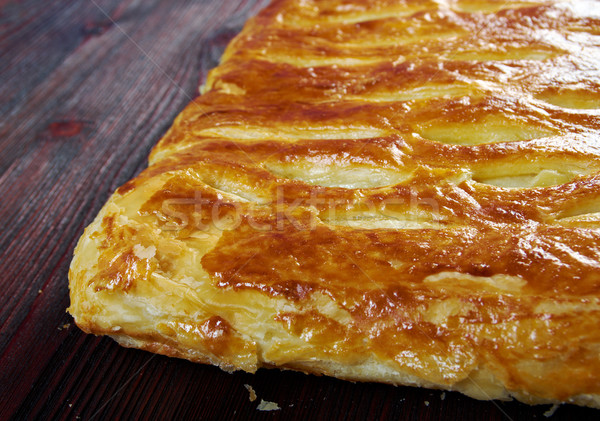 Home cake with  cabbage and egg Stock photo © fanfo