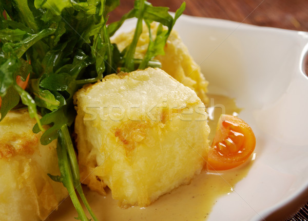 Cuit tofu légumes chinois style frit Photo stock © fanfo