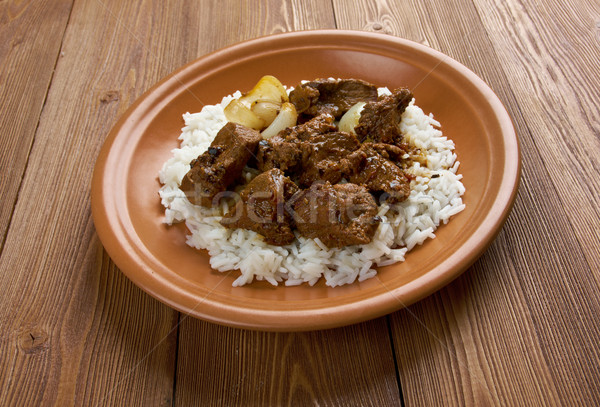 Moroccan Lamb Tagine Stock photo © fanfo
