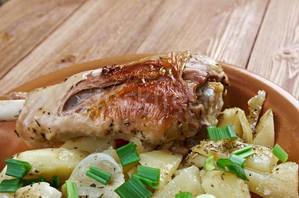 Törökország láb sült krumpli vidék konyha Stock fotó © fanfo