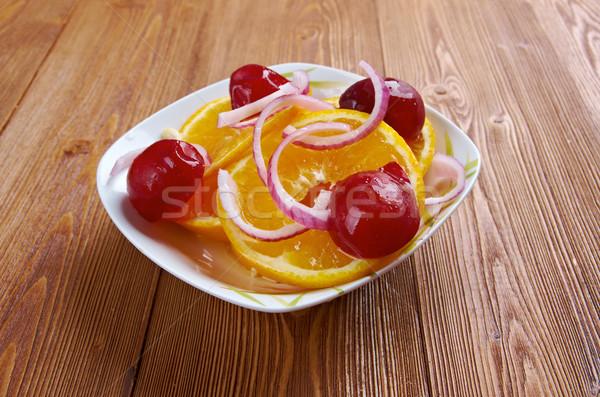 Egyptian orange salad Stock photo © fanfo