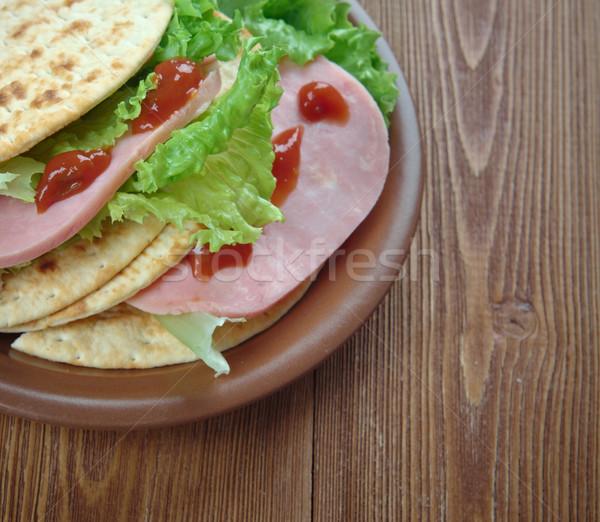 Tacos presunto calorias caseiro ovo Foto stock © fanfo