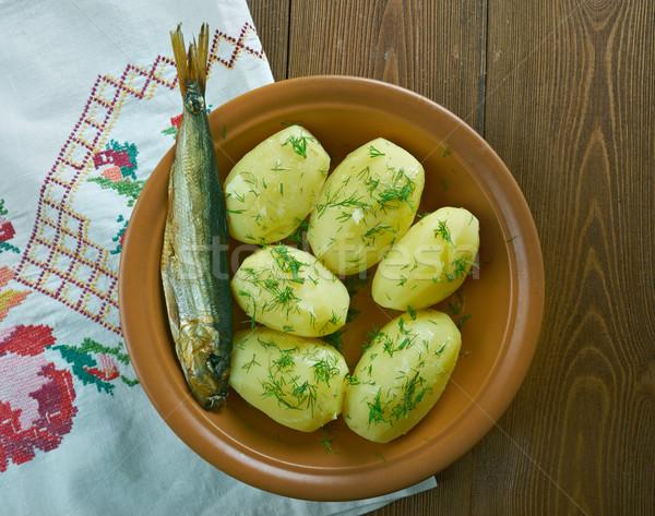 Finnish new potatoes Stock photo © fanfo