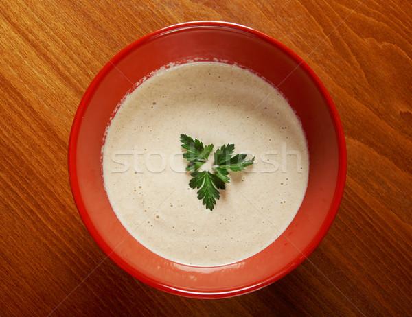 クリーミー キノコ スープ シャンピニオン 食品 ディナー ストックフォト © fanfo