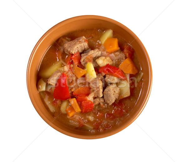 Sıcak çorba geleneksel ev yapımı gıda Stok fotoğraf © fanfo