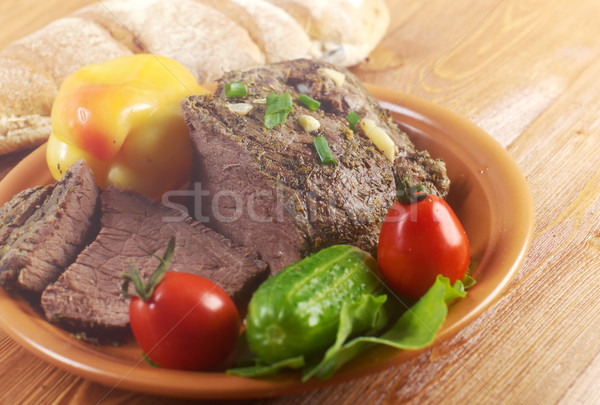 roast beef farm-style Stock photo © fanfo