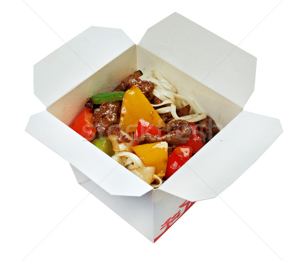 Beef slice  and udon-noodle Stock photo © fanfo
