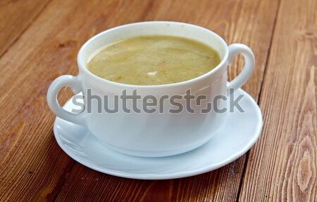 Creamy cabbage and sorrel soup Stock photo © fanfo