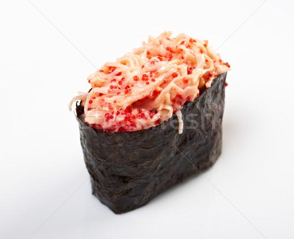 Baharat sushi havyar dilimleri Japon akşam yemeği Stok fotoğraf © fanfo