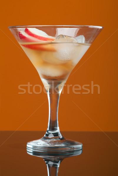 Kozmopolit kokteyl içmek sarı gözlük içecekler Stok fotoğraf © fanfo