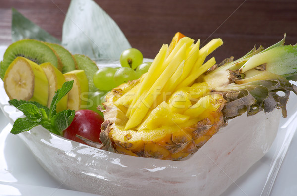 Salad whit tropical fruit and vegetables Stock photo © fanfo
