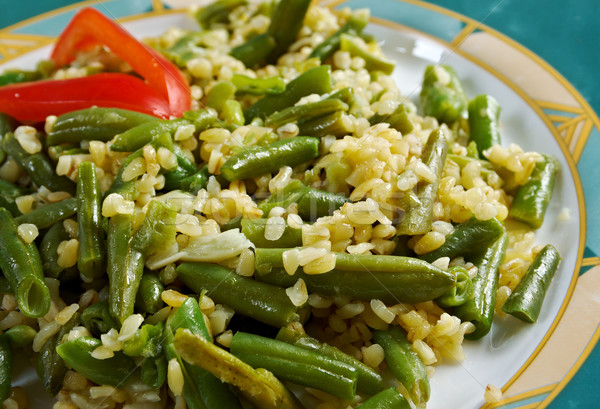 Green beans salad  Stock photo © fanfo