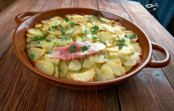 Edény hagyományos Anglia krumpli pörkölt étel Stock fotó © fanfo